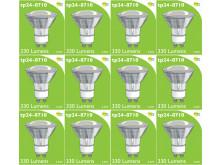 8710 LED 3.5W Clear Spot L1/GU10 Cap (2882 & 2880 Replacement) *12 Pack Bundle*
