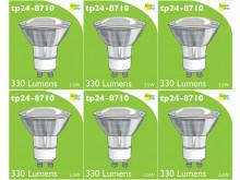 8710 LED 3.5W Clear Spot L1/GU10 Cap (2882 & 2880 Replacement) *6 Pack Bundle*
