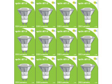 8713 LED 3.5W Clear Spot L1/GU10 Cap (2882 & 2880 Replacement) 4000K *12 Pack Bundle*