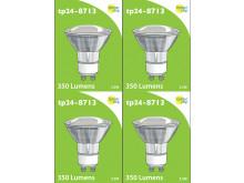 8713 LED 3.5W Clear Spot L1/GU10 Cap (2882 & 2880 Replacement) 4000K *4 Pack Bundle*