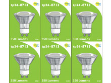 8713 LED 3.5W Clear Spot L1/GU10 Cap (2882 & 2880 Replacement) 4000K *6 Pack Bundle*