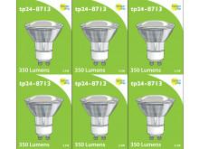 8713 LED 3.5W Clear Spot L1/GU10 Cap (2882 & 2880 Replacement) 4000K *6 Pack Bundle*