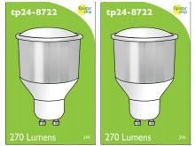 8722 LED 3.5W Opaque Spot L1/GU10 Cap (2842, 2886, 2884 & 2318 Replacement) *2 Pack Bundle*