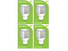 8722 LED 3.5W Opaque Spot L1/GU10 Cap (2842, 2886, 2884 & 2318 Replacement) *4 Pack Bundle*