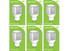 8722 LED 3.5W Opaque Spot L1/GU10 Cap (2842, 2886, 2884 & 2318 Replacement) *6 Pack Bundle*