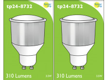 8732 LED 3.5W Cool White Opaque Spot L1/GU10 Cap (8722, 2886, 2884 & 2318 Replacement) 4000K *2 Pack Bundle*