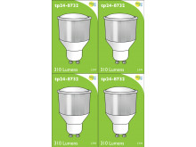 8732 LED 3.5W Cool White Opaque Spot L1/GU10 Cap ( 8722, 2886, 2884 & 2318 Replacement) 4000K * 4 Pack Bundle*