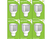 8732 LED 3.5W Cool White Opaque Spot L1/GU10 Cap (8722, 2886, 2884 & 2318 Replacement) 4000K *6 Pack Bundle*