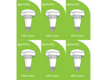 8752 LED 8W ES/E27 R063 Spot Lamp *6 Pack Bundle*