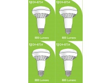 8754 LED ES/E27 R080 10W Spot Lamp *4 Pack Bundle*