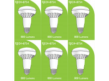 8754 LED ES/E27 R080 10W Spot Lamp *6 Pack Bundle*