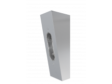 Angled Wall fitting Chrome