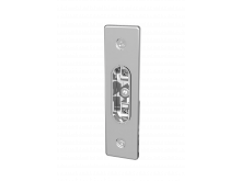 Single Narrow Wall Face Plate Chrome