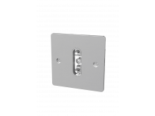Single Standard Wall Face Plates without Switch Chrome