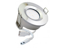 5732 G40 IP65 Downlight Chrome Inc Frosted Lamps