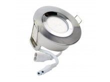5769 G40 IP65 Downlight Satin Silver Inc 4000K Dimmable Daylight Lamp