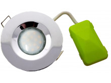 5748 G40 IP65 Downlight Earthed Model Chrome Inc Frosted Lamp